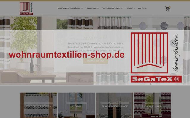 Onlineshop wohnraumtextilien-shop.de